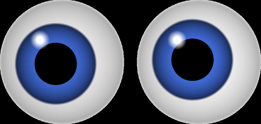 Spooky blue eye clipart.