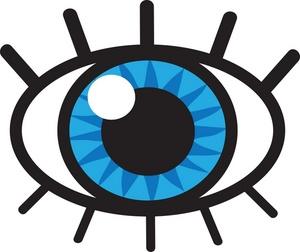 Blue Eye Clip Art.