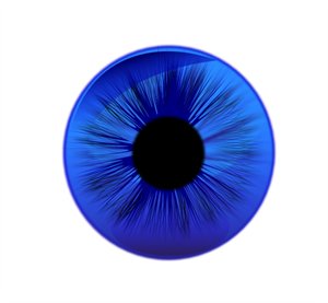 Eye Contact Lens Blue PNG, SVG Clip art for Web.