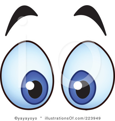 Crossed Eyes Clipart.