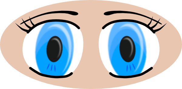 Girl Eyes Clipart.