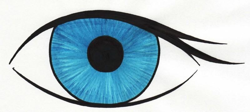 Open clipart blue eye.