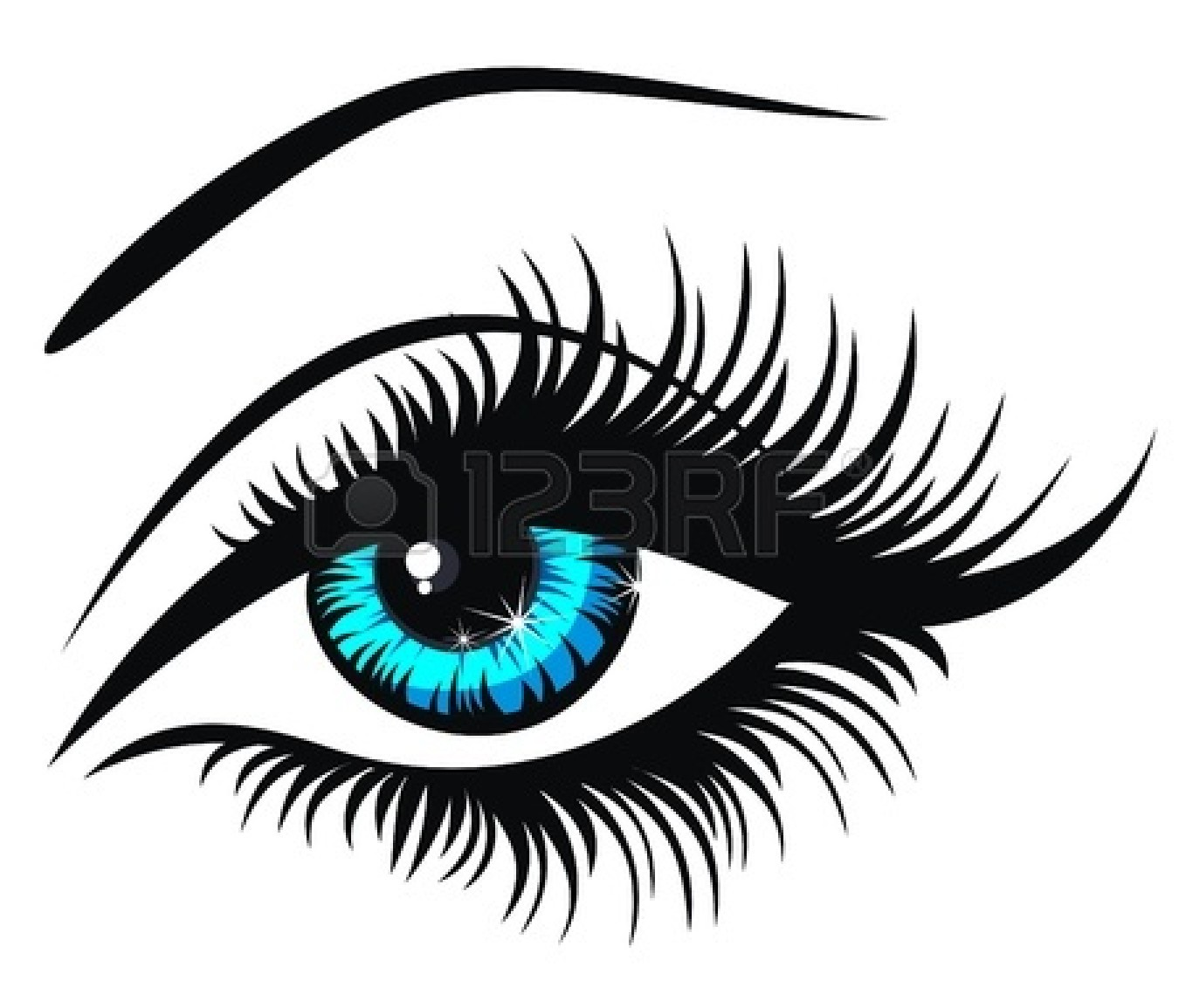 Eyeball blue eyes clipart free images.