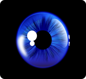 Blue eyes in the dark clipart.