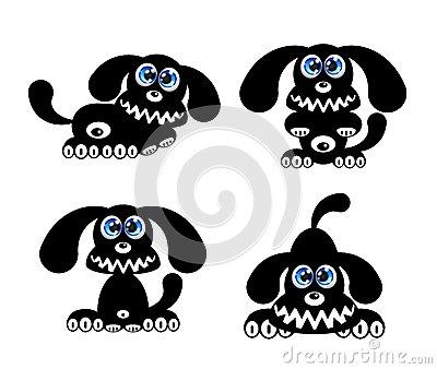 Happy Dog With Blue Eyes Stock Photos.