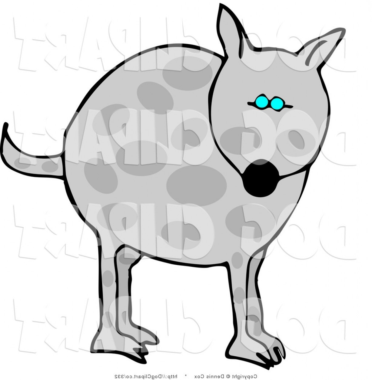 Exclusive Blue Eyes On A Dog Clipart Image.