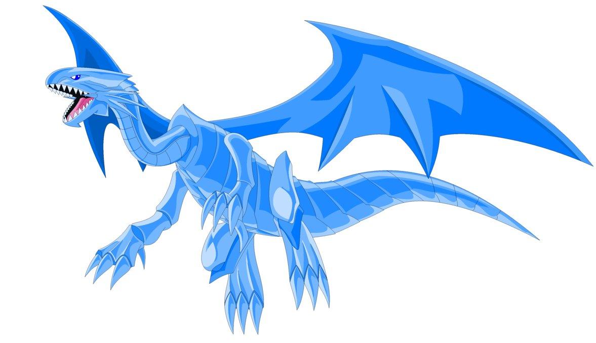 Malefic Blue Eyes White Dragon Render.