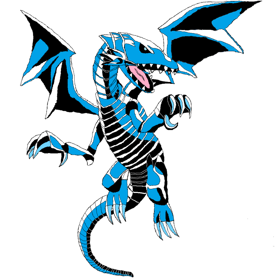 blue eyes white dragon clipart clipground