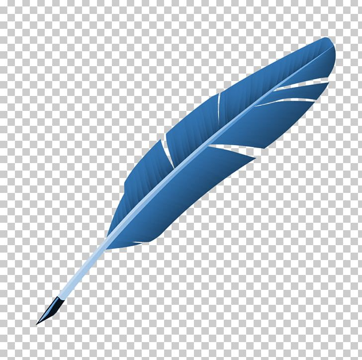 Blue Feather Quill Pen PNG, Clipart, Animals, Blue, Blue Abstract.