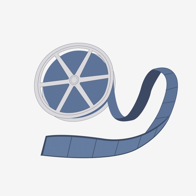 Vector Cartoon Blue Film, Tape Icon, Film, Film PNG Transparent.