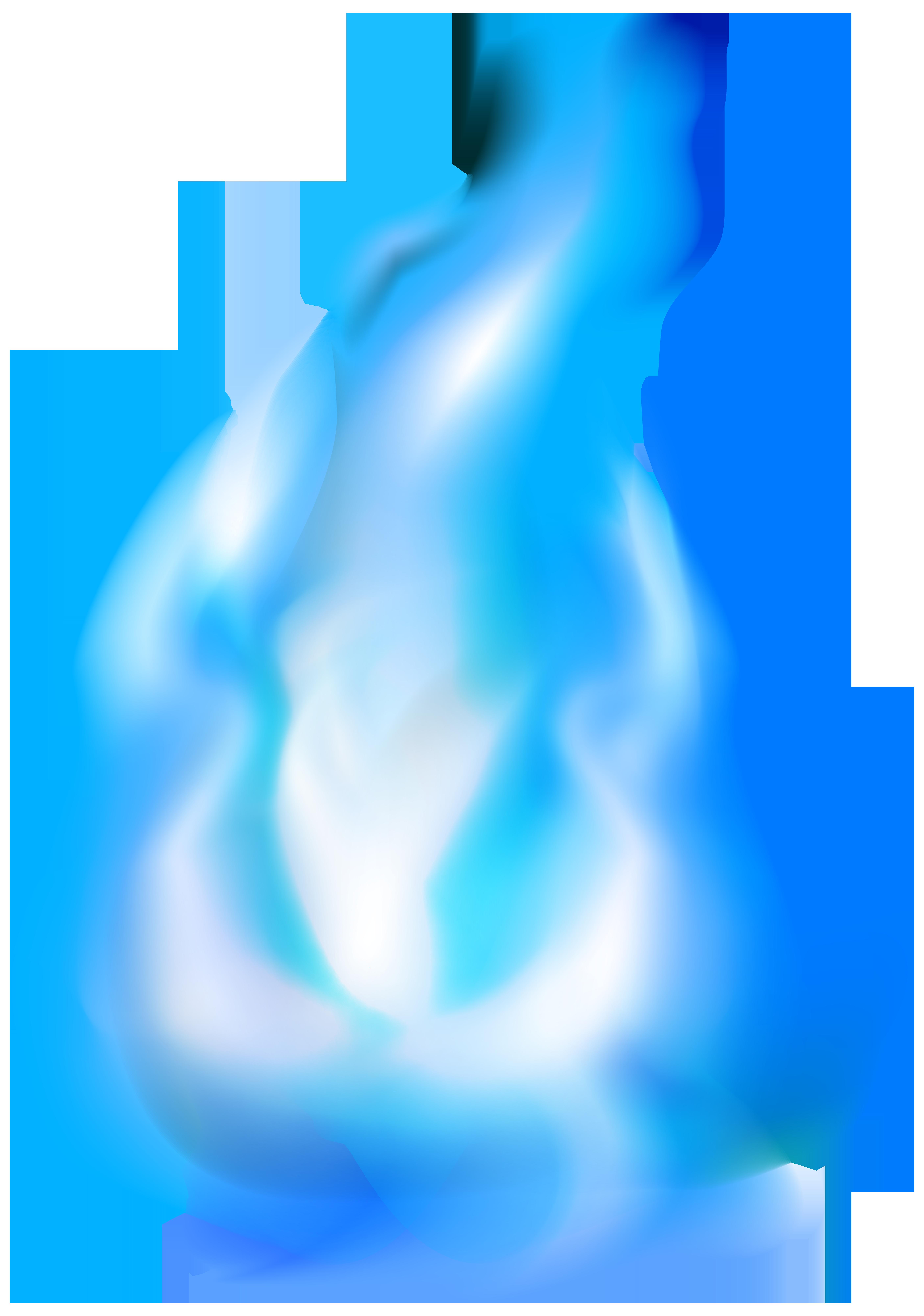 Blue Flame PNG Clip Art Image.