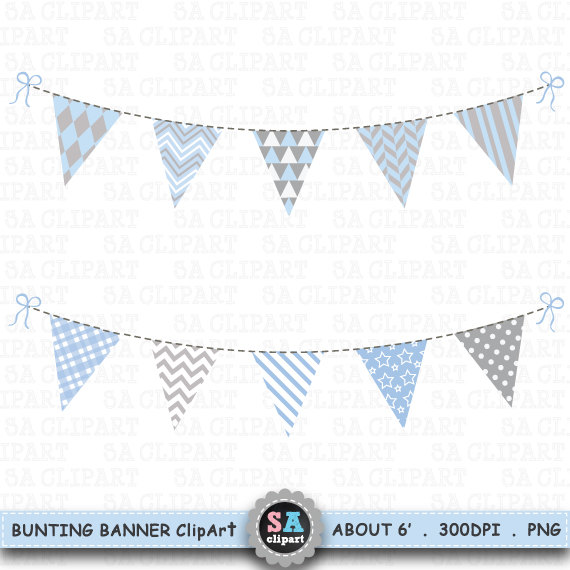 Bunting Banner Clipart,