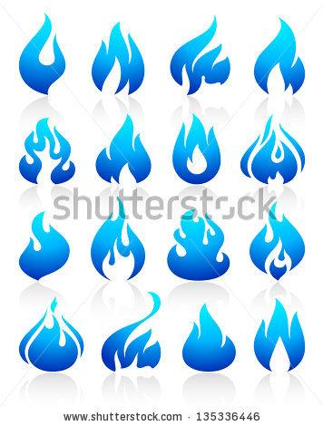 Blue Flame Stock Photos, Royalty.