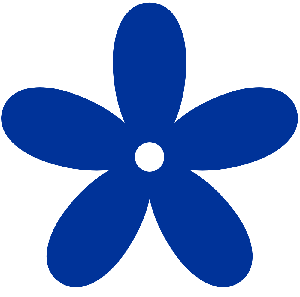 Royal Blue Flower Clipart.