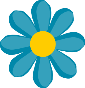 Blue Flower clip art Free Vector / 4Vector.