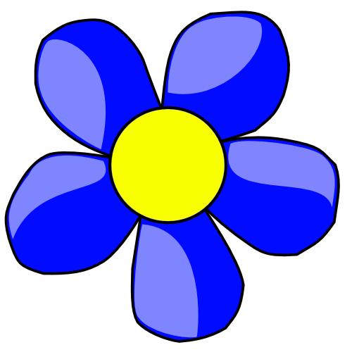 Blue Flower Clipart.