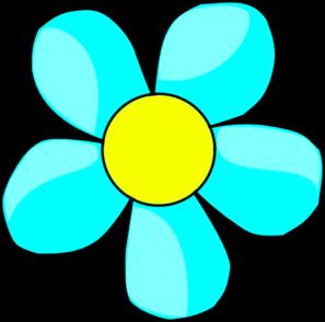 Flower clipart blue.