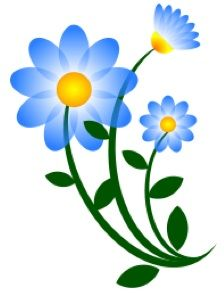 free clipart blue flowers.