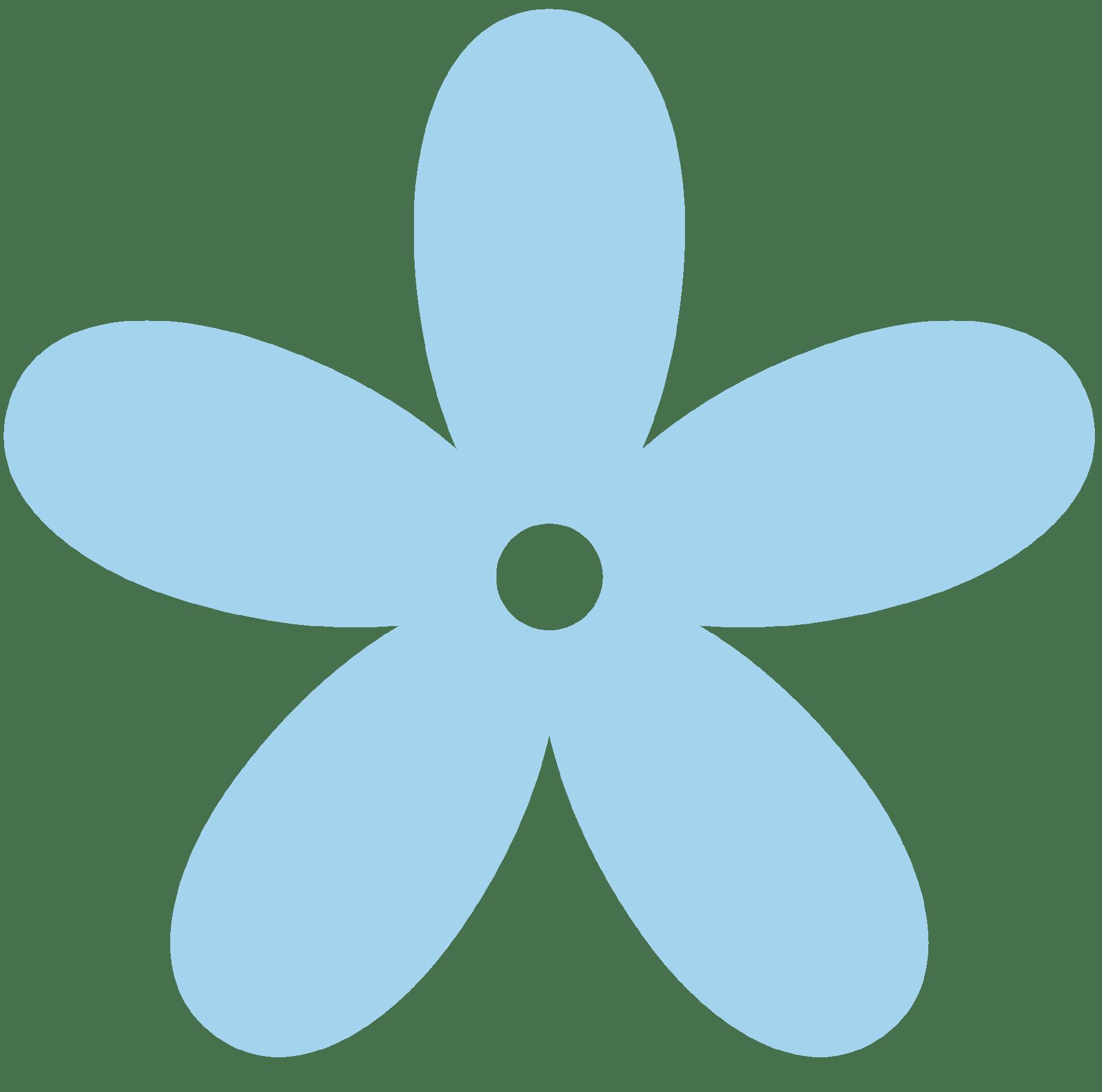 Light blue flower clipart 2 » Clipart Portal.