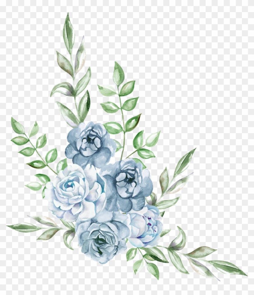 freetoedit #ftestickers #watercolor #blue #rose #cluster.