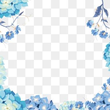 Blue Flower PNG Images.
