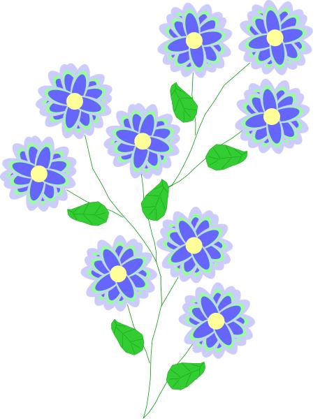 Blue Flower Clip Art Download.