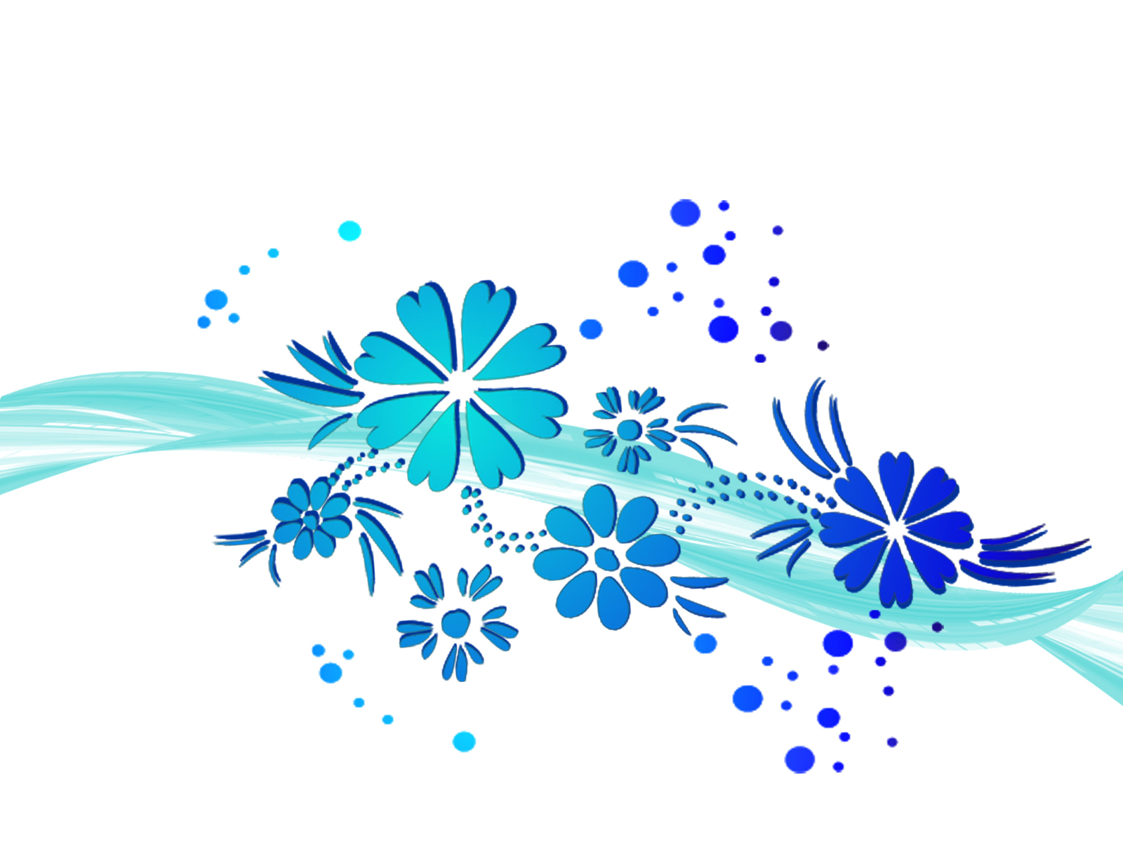 Blue Flower Design Clipart.