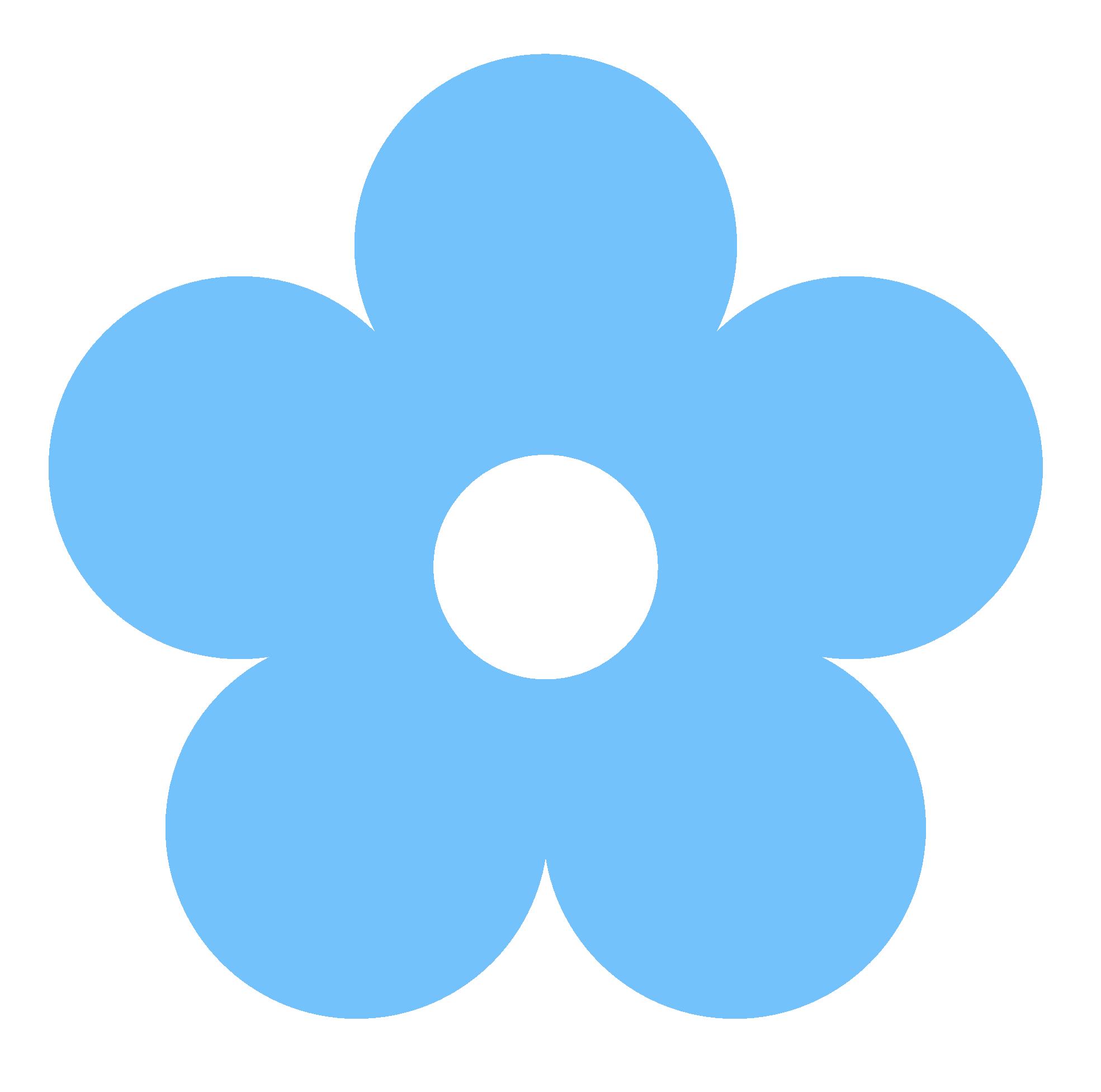 Clipart blue flower.
