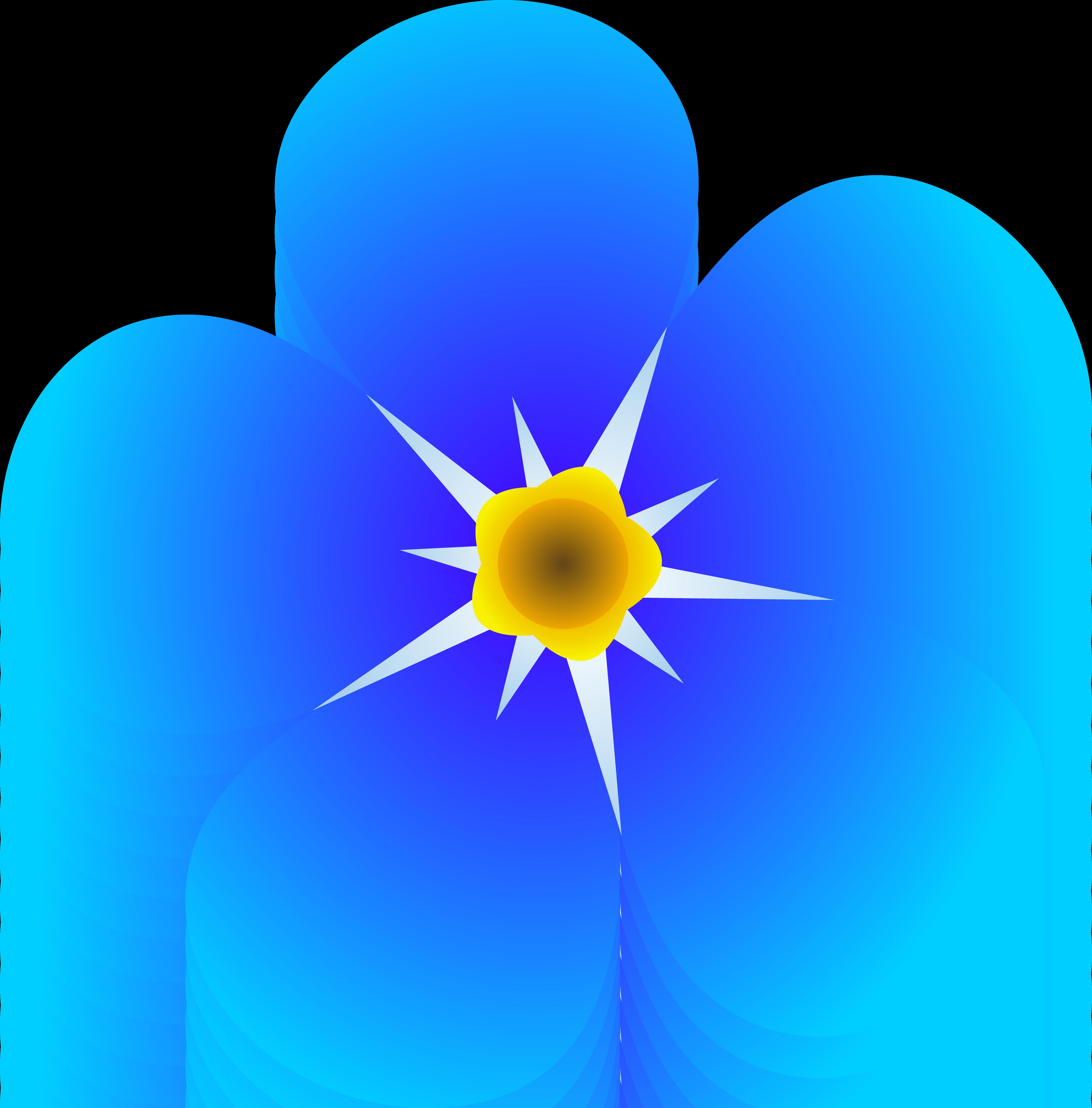 Free clip art blue flowers.