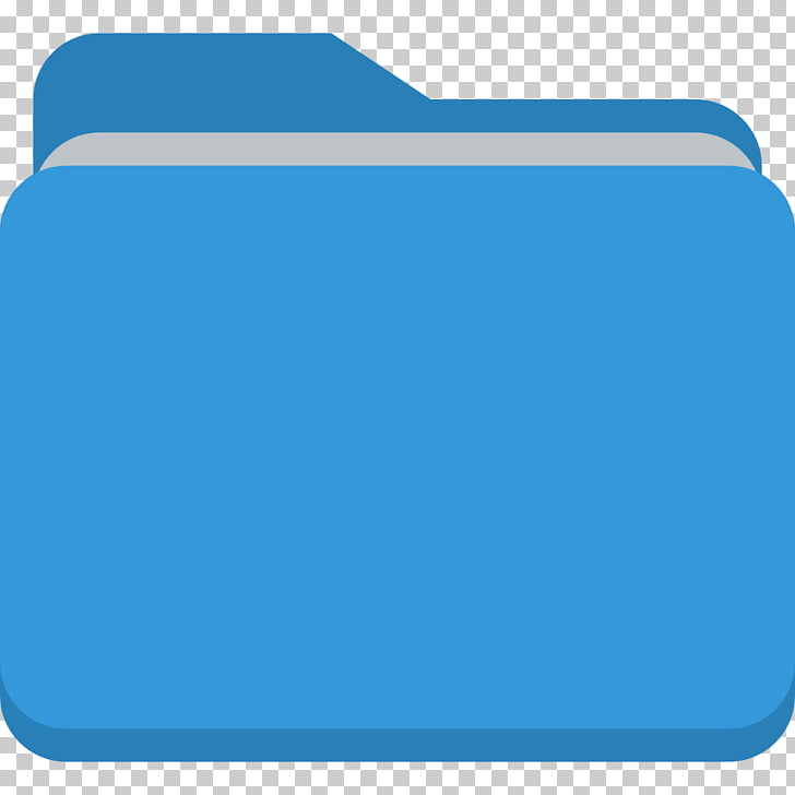 Electric blue angle area, Folder, blue folder icon PNG.