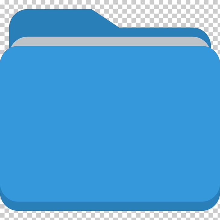 Electric blue angle area, Folder, blue folder icon PNG.
