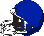 Blue Football Helmet Clipart.