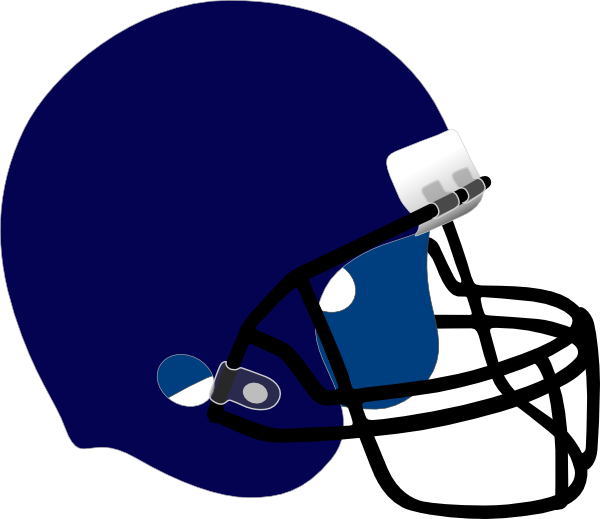 Blue Football Helmet Clip Art at Clker.com.