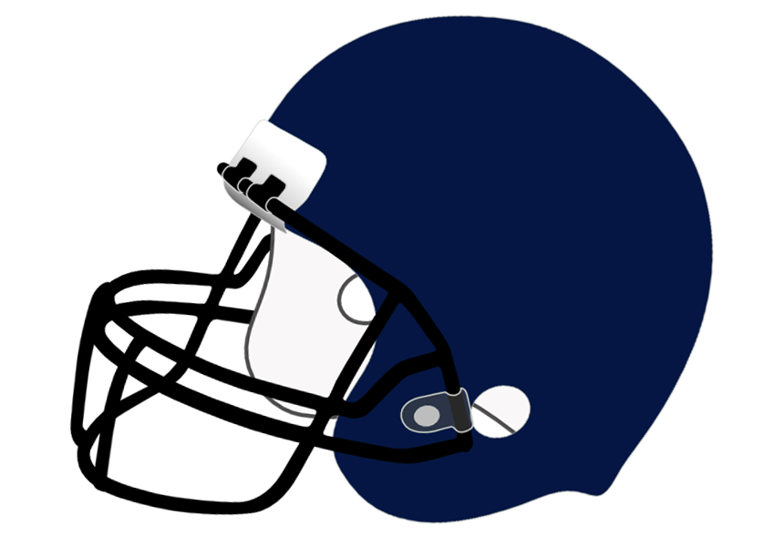 Football Helmet Clip Art Transparent Background Blue and Black.