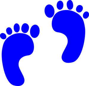 Baby Blue Footprints Clipart.