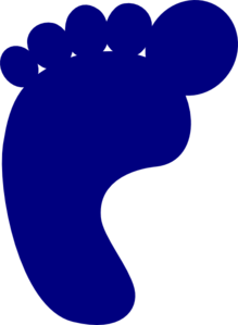 Dark Blue Footprint Clip Art at Clker.com.