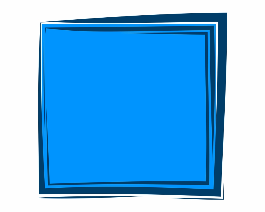 Blue Frame Frame Background Album Border Design.