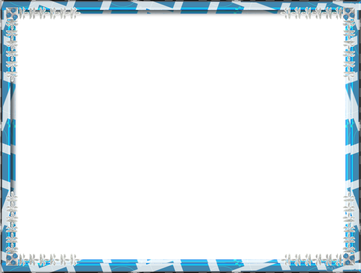 Blue Frame PNG Photo.