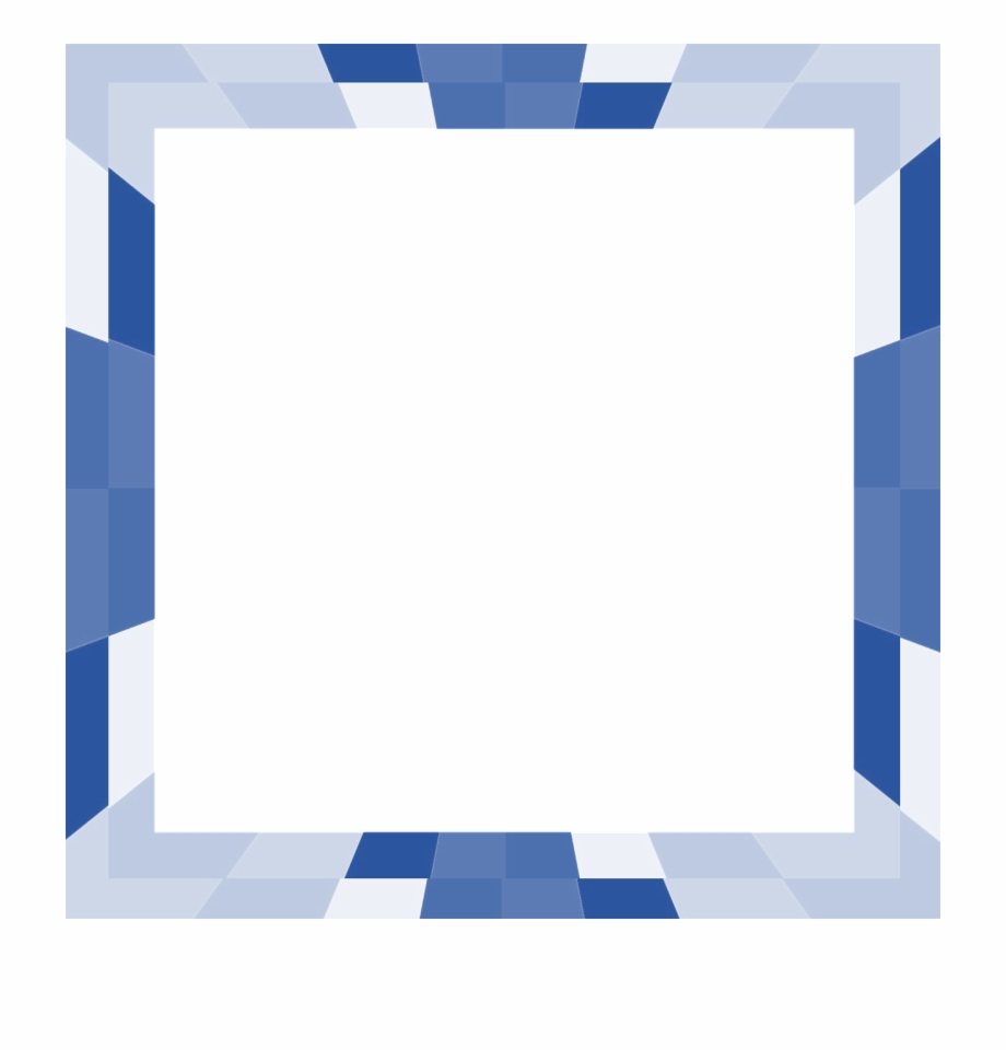 Blue Geometric Shapes Frames Png Image.