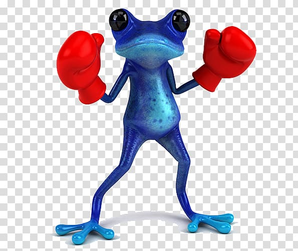 Frog Boxing glove Illustration, Blue Frog transparent.