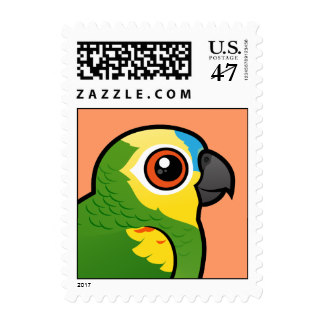 Blue Fronted Amazon Postage Stamps.