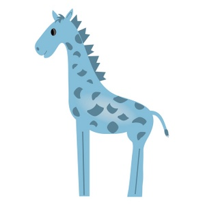 Free Giraffe Clip Art Image.