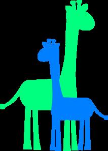 Blue Giraffe Clipart.