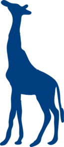 Blue Giraffe Clip Art at Clker.com.