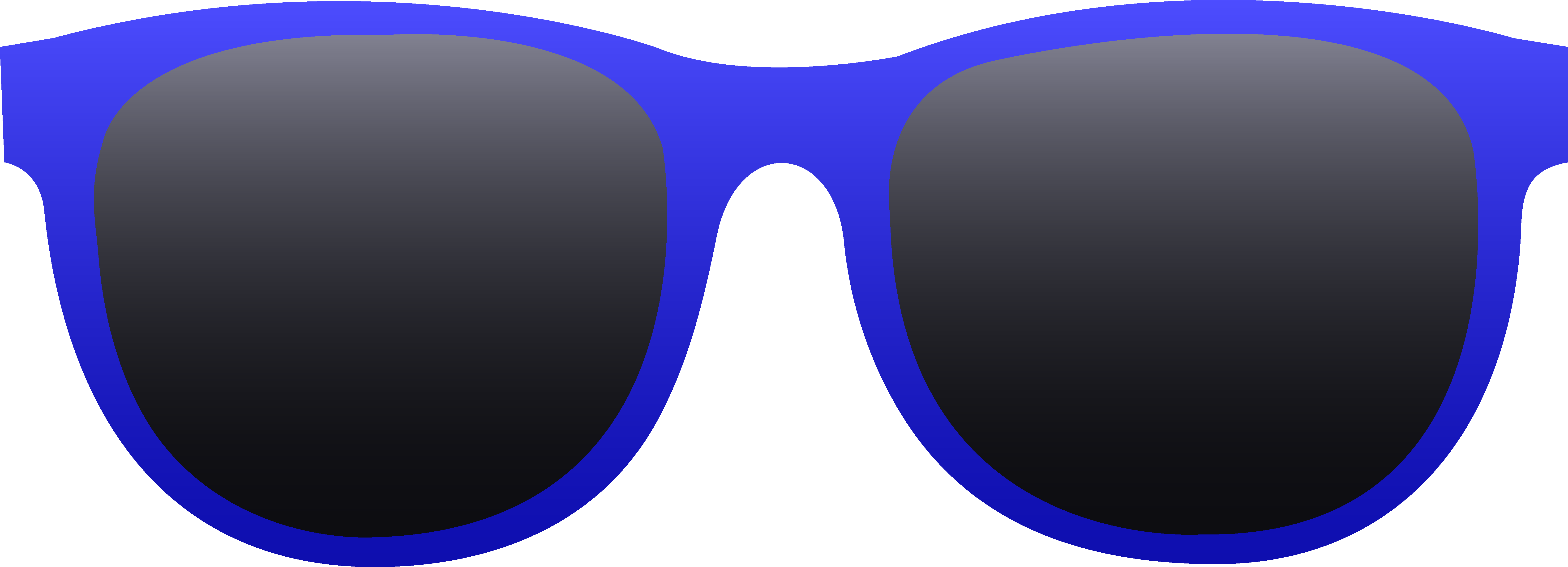 Bright Blue Sunglasses.
