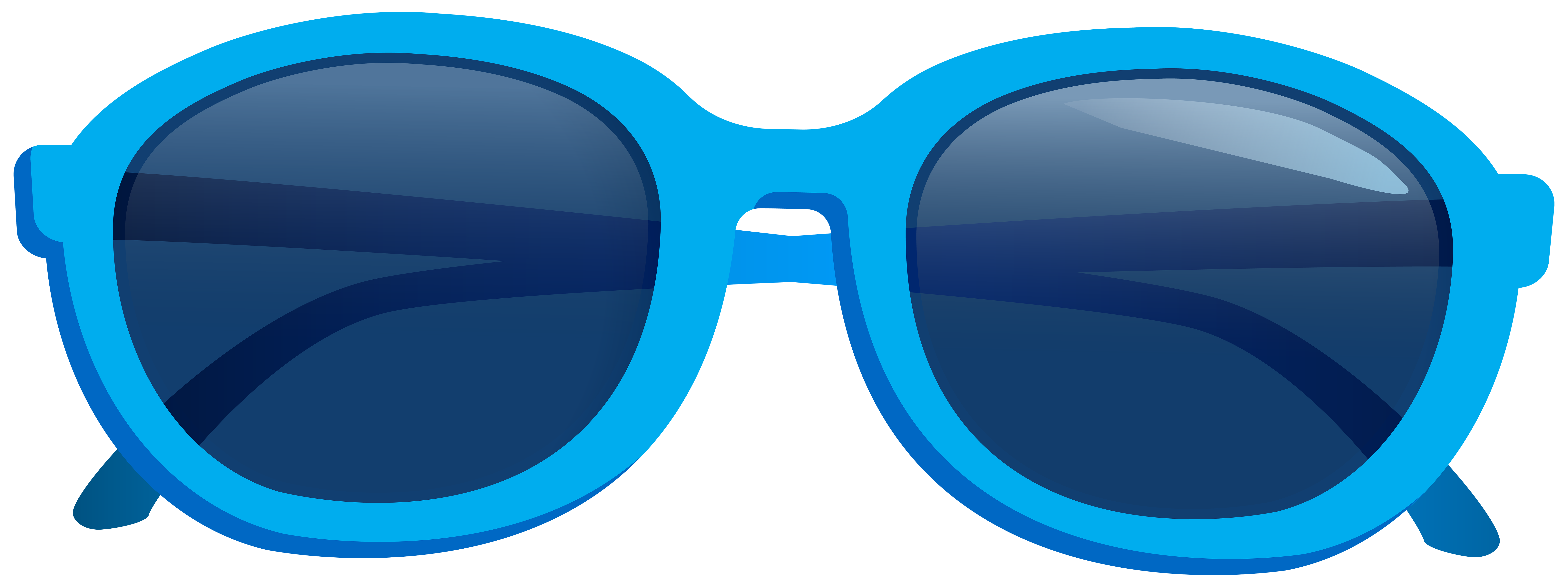 Blue Sunglasses PNG Clipart Image.