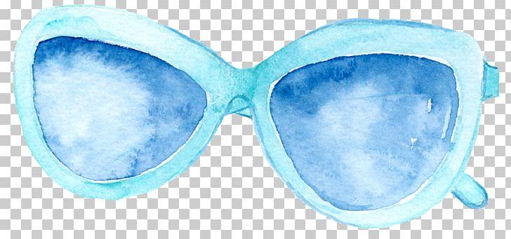 Goggles Sunglasses Blue PNG, Clipart, Azure, Black.