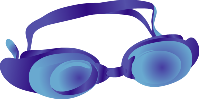 Blue Swimming Goggles.