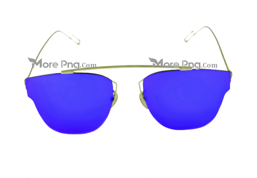 Blue Hd Goggles PNG.