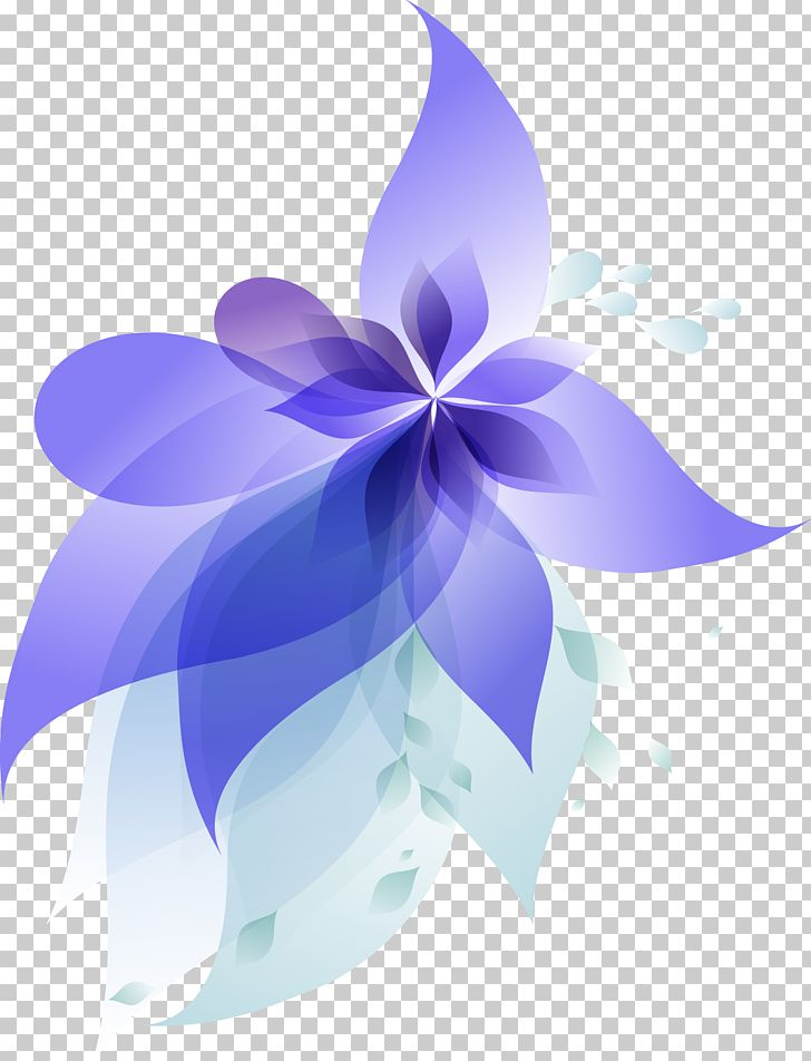 Blue Gradient Flowers PNG, Clipart, Blue, Blue Gradient.